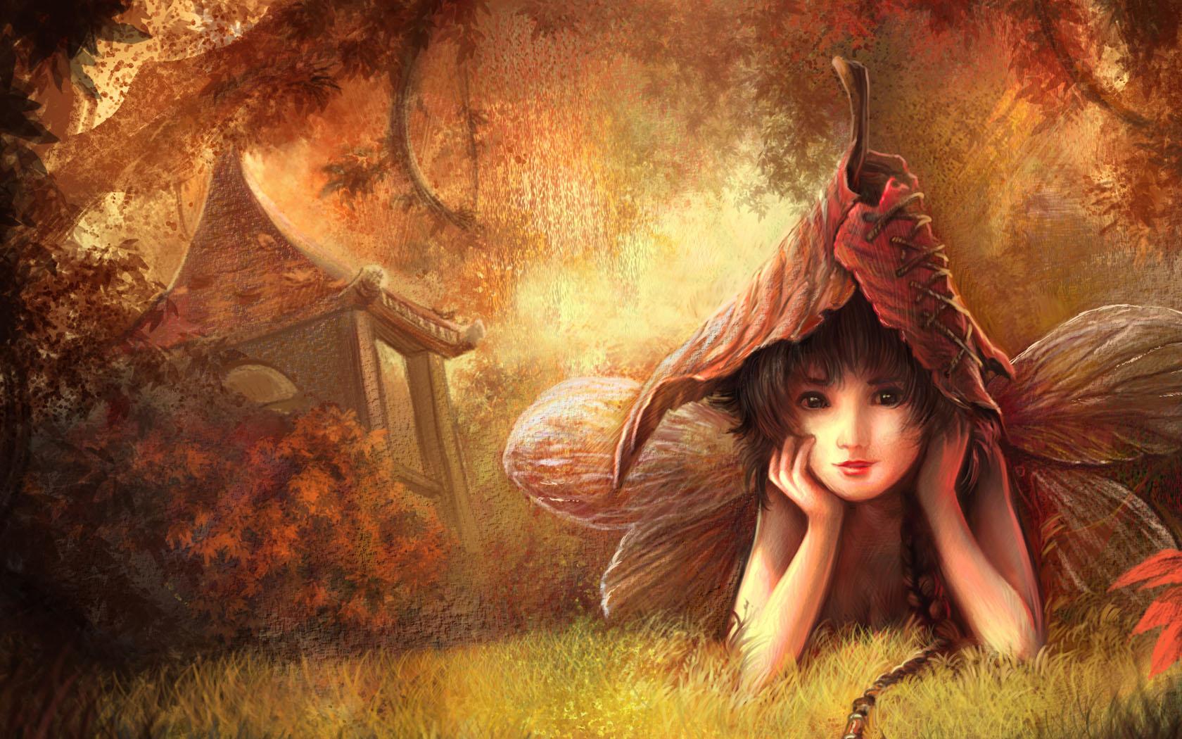 Résultat d'images pour Gifs fée automne